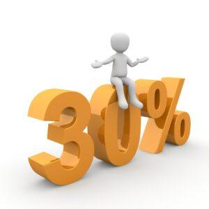 100% höhere Chancen auf einen Kredit und 30% Zinsersparnis!